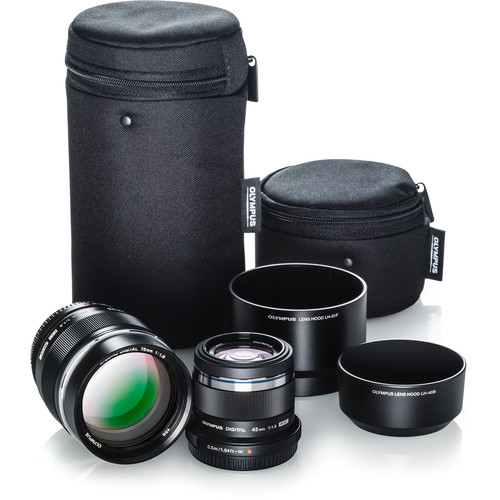 Olympus Portrait Lens Kit with 45mm f/1.8 and 75mm f/1.8 Lenses