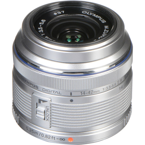 Olympus M.Zuiko Digital ED 14-42mm f/3.5-5.6 II R Lens (Silver)