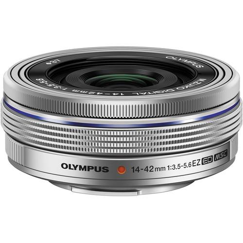 Olympus M.Zuiko Digital ED 14-42mm f/3.5-5.6 EZ Lens (Silver)