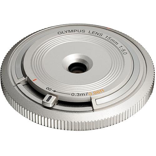 Olympus 15mm f/8.0 Body Cap Lens (Silver)