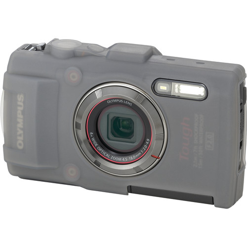 Olympus CSCH-122 Silicone Jacket for Tough TG-3 Digital Camera (Gray)