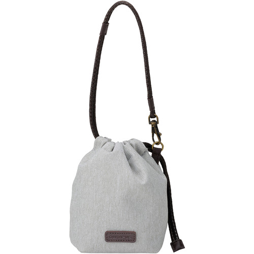 Olympus Stylish Cloth Lens Case Pouch with Drawstring Clasp (Light Gray)