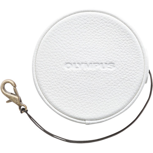 Olympus LC-60.5GL Leather Lens Cover for 14-42mm f/3.5-5.6 EZ Lens (White)