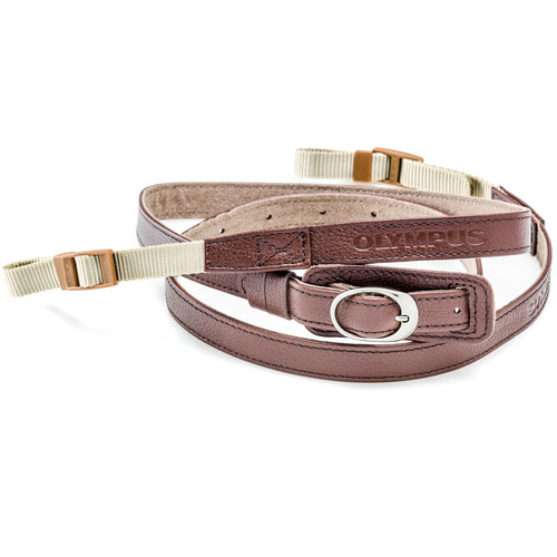 Olympus Leather Neck Strap for Pen or E-System Cameras (Brown)