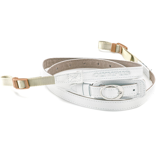 Olympus CSS-S109Ll Leather Neck Strap (White)