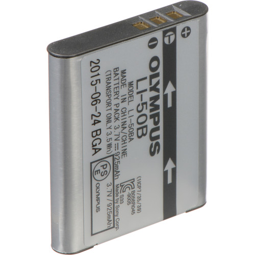 Olympus Li-50B Rechargeable Li-Ion Battery (3.7V, 925 mAh)