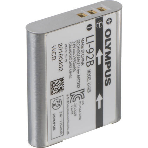 Olympus LI-92B Rechargeable Lithium-Ion Battery (3.6V, 1350mAh)