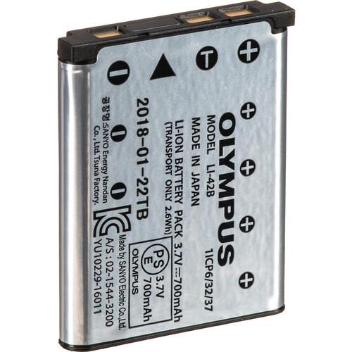 Olympus LI-42B Rechargeable Lithium-Ion Battery (3.7V, 740mAh)