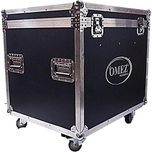 OMEZ Road Case with 4 O-Matrix5 Wash Blinder Fixtures