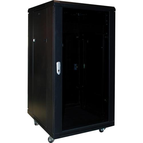 OmniMount 1004777-1 RE18 Enclosed Equipment Rack (Black)