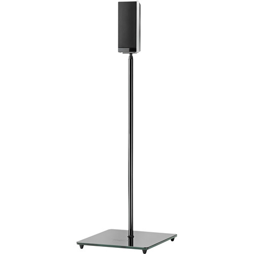 OmniMount EL0 Floor Stand for Small Satellite Speakers (Load Up to 4 lb, 2-Pack, Black)