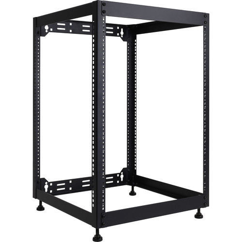 OmniMount 14-Space Open Rack System (14 RU, Black)