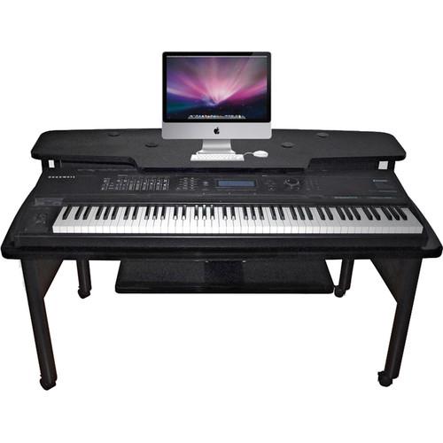 Omnirax Composing Workstation with Black Legs (Black)