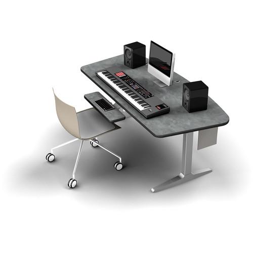 Omnirax BT Workstation with Charcoal Height-Adjustable Workrite Sierra HX Electric Base