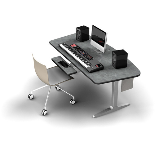 Omnirax BT Workstation with Silver Height-Adjustable Workrite Sierra HX Electric Base