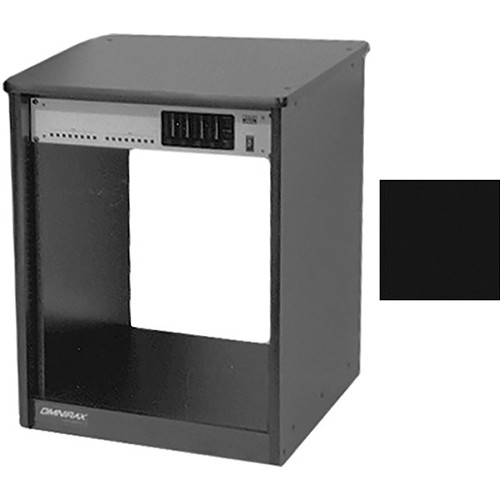 Omnirax 14 Space Rack Cabinet (Black Melamine)
