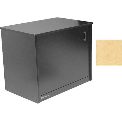 Omnirax 14 Space Rack Cabinet And Computer Cubby With Door (Maple)