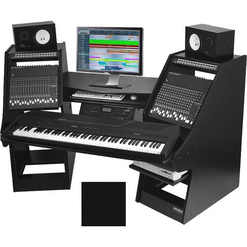 Omnirax Commander Keyboard Composing / Mixing Workstation (Black)