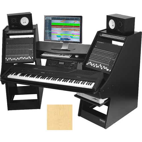 Omnirax Commander Keyboard Composing / Mixing Workstation (Maple)