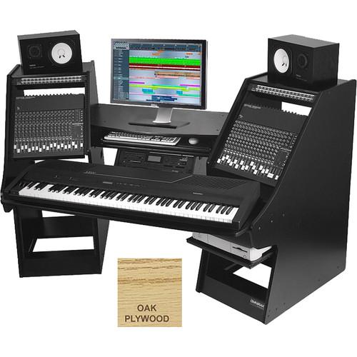 Omnirax Commander Keyboard Composing / Mixing Workstation (Oak Plywood)