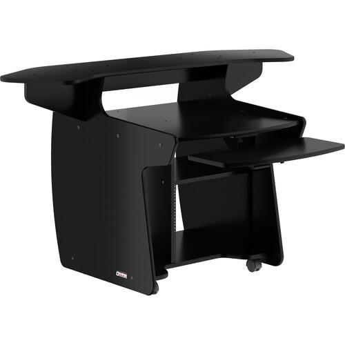 Omnirax Coda Mixing and Digital Editing Workstation Desk (Black Melamine)
