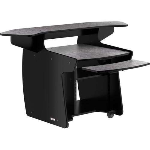 Omnirax CODA Mixing/Digital Editing Workstation Desk (8 RU, Pewter Brush Formica)
