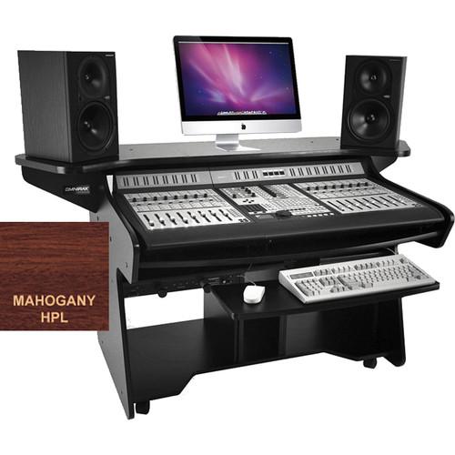 Omnirax CODAEX Mixing / Digital Editing Workstation Desk for Pro Control (Mahogany Formica)