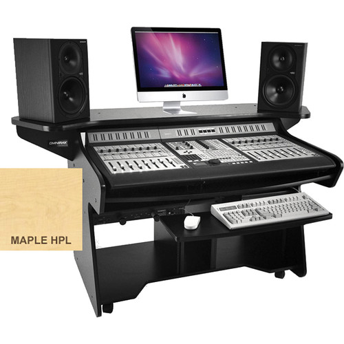 Omnirax CODAEX Mixing / Digital Editing Workstation Desk for Pro Control (Maple Formica)