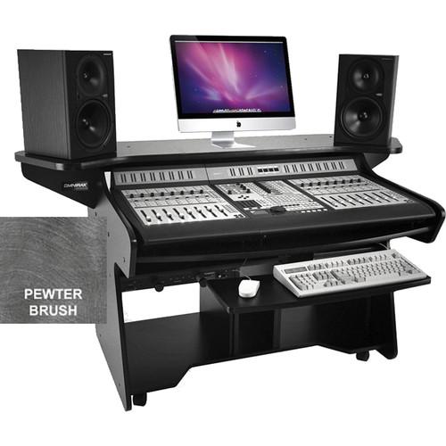 Omnirax CODAEX Mixing / Digital Editing Workstation Desk for Pro Control (Pewter Brush Formica)
