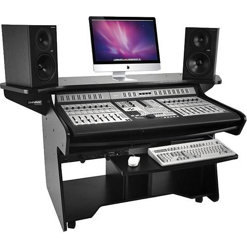 Omnirax Mixing / Digital Editing Workstation Desk For Pro Control (Black)