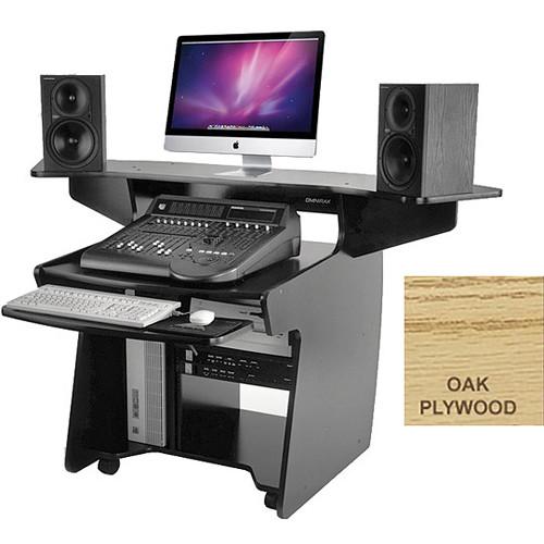 Omnirax Mixing / Digital Editing Workstation Desk (Oak Plywood)