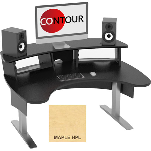 Omnirax Contour Series Fixed Height Workstation (5' Wide, Maple)