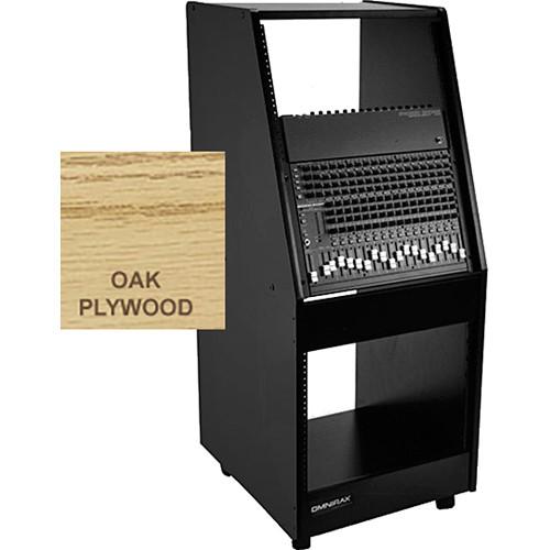 Omnirax 22RU Space Rolling Console (Oak Plywood)