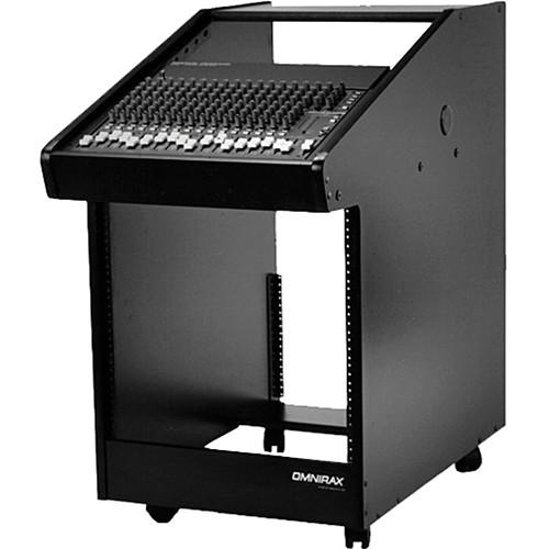 Omnirax CW30 Rolling Console (Black Melamine)