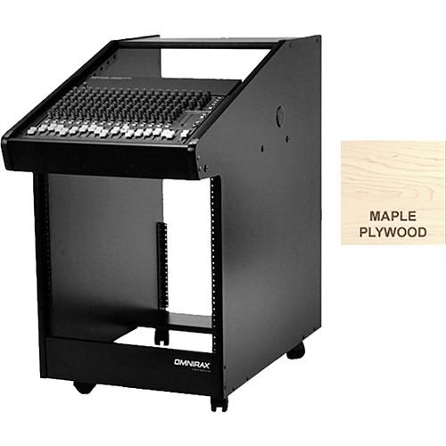 Omnirax 30 Rack Space Rolling Console (Maple Plywood)