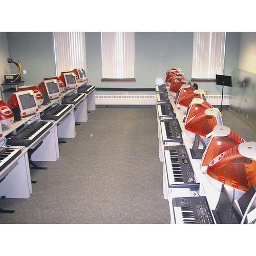 Omnirax Compact Classroom Keyboard Desk for 2 Students