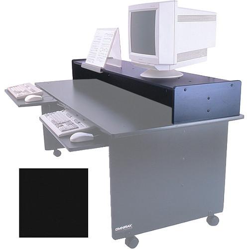 Omnirax Monitor Riser for Dual Table (Black Melamine)