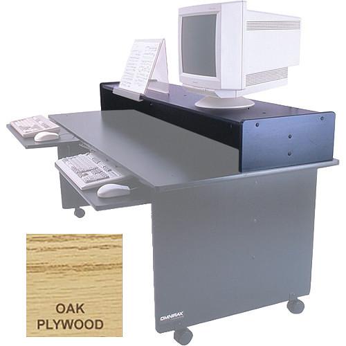 Omnirax Monitor Riser for Dual Table (Oak Plywood)
