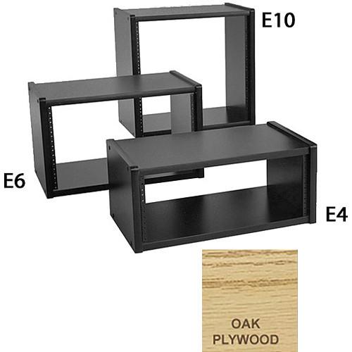 """Omnirax 4 Space Vertical Rack - 12"""" Deep (Oak Plywood)"""