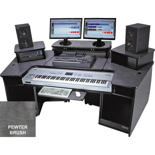 Omnirax F2 Keyboard Composing / Mixing Workstation (Pewter Brush Formica)