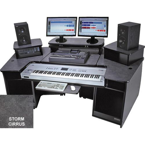 Omnirax F2 Keyboard Composing / Mixing Workstation (Storm Cirrus Formica)