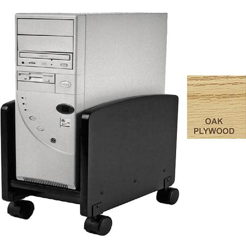 Omnirax Rolling Cart for Wider CPUs (Oak Plywood)
