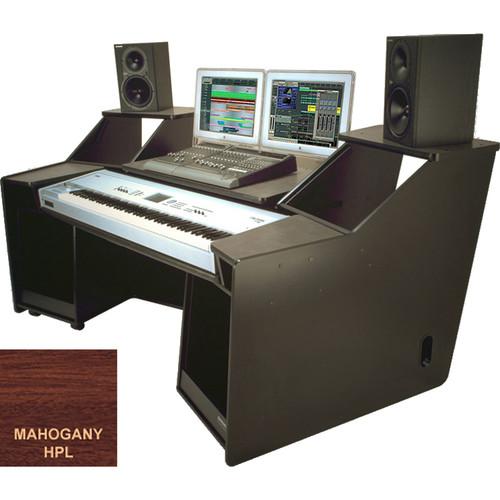 Omnirax FORTE Keyboard Composing / Mixing Workstation (Mahogany Formica)