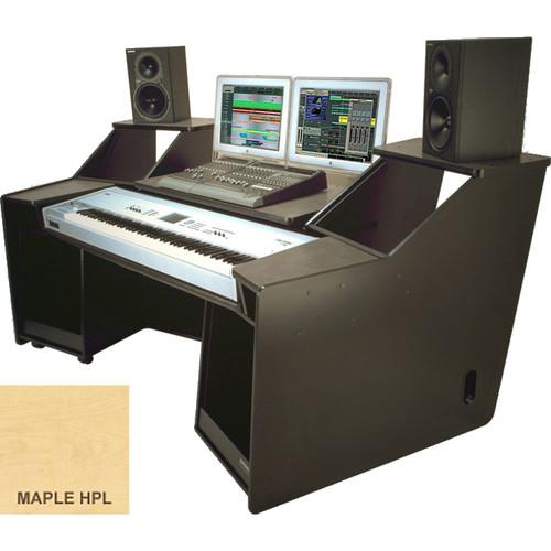 Omnirax FORTE Keyboard Composing / Mixing Workstation (Maple Formica)