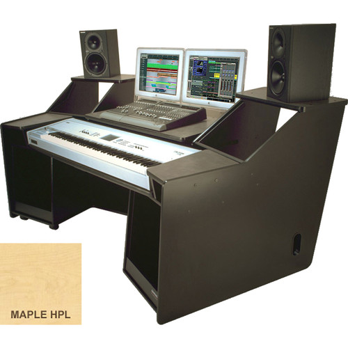 Omnirax FORTE Keyboard Composing / Mixing Workstation (Maple Formica)