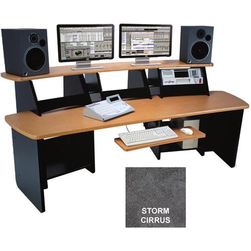 Omnirax Force 12 Multi-Purpose Audio Video Workstation (Storm Cirrus Formica)