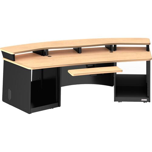 Omnirax Force 32 Multipurpose Workstation with Monitor Bridge (Maple Formica)