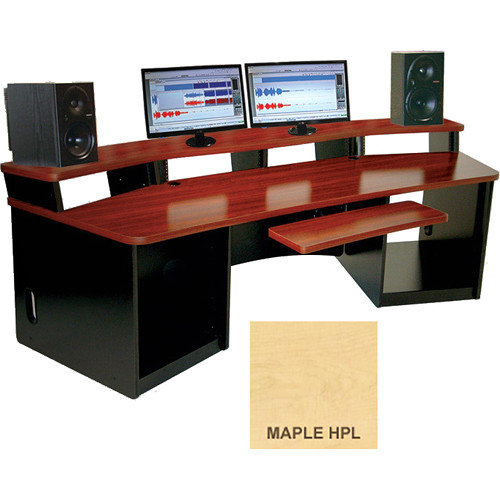 Omnirax Force 32 Multipurpose Workstation with Monitor Bridge (Maple Formica)