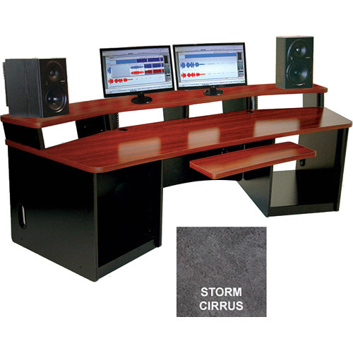 Omnirax Force 32 Multi-Purpose Workstation with One-Piece Monitor Bridge (Storm Cirrus Formica)
