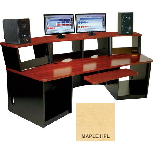 Omnirax Force 40 Multi-Purpose Workstation with One-Piece Monitor Bridge (Maple Formica)